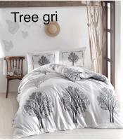 Постільна білизна Altinbasak ранфорс 200x220 Tree Gri