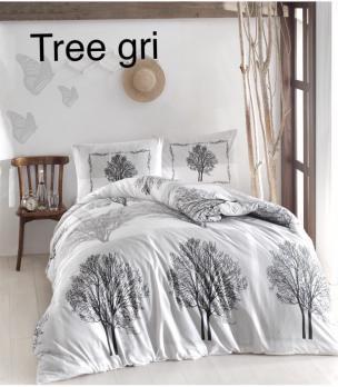 Постельное белье Altinbasak ранфорс 200x220 Tree Gri
