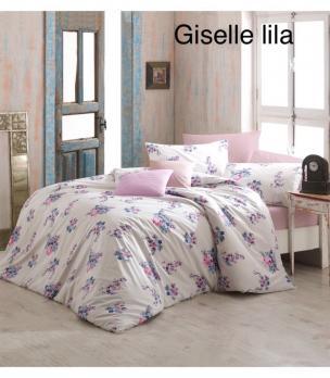 Постельное белье Altinbasak ранфорс 200x220 Giselle Lila