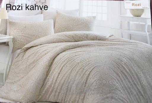 Постельное белье Altinbasak ранфорс 200x220 Rozi Kahve