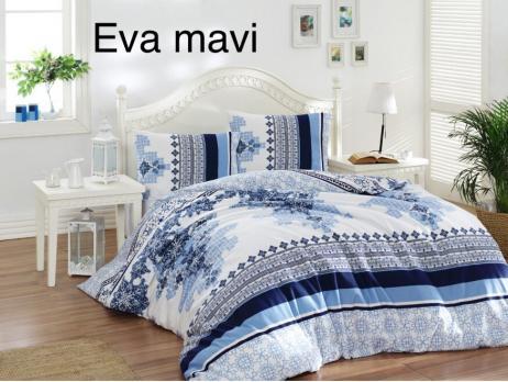 Постельное белье Altinbasak ранфорс 200x220 Eva Mavi