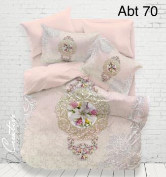 Постельное белье Altinbasak 3D сатин 200x220 Abt 70