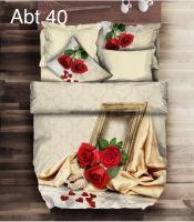Постельное белье Altinbasak 3D сатин 200x220 Abt 40