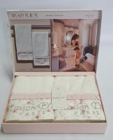 Полотенца Maison D'or 2шт Roses Бамбук 50x100 Ekru Pink