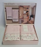 Полотенца Maison D'or 2шт Roses Бамбук 50x100 Pink