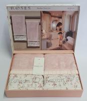 Полотенца Maison D'or 2шт Roses Бамбук 50x100 Rose