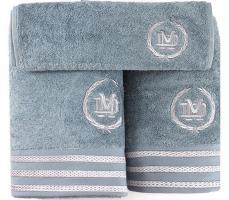 Полотенца Maison D'or 3шт Delon Blue/Grey