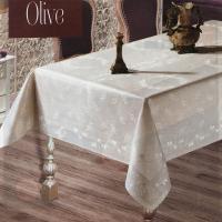 Скатертина тефлон Maison Royale 160*220 Olive Cream