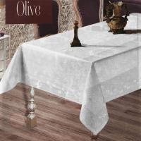 Скатертина тефлон Maison Royale 160*220 Olive White