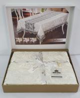 Скатерть Велюр Maison Royale 160x220 Sahaser Cream