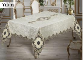 Скатерть Велюр Maison Royale 160x220 Yildiz Cream