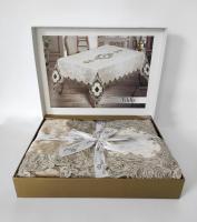 Скатерть Велюр Maison Royale 160x220 Yildiz Cappucino