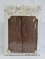 Набор махровых полотенец Issihome точка коричневый