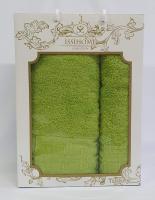 Набор махровых полотенец Issihome кубик зеленый