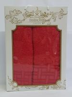 Набор махровых полотенец Issihome кубик красный