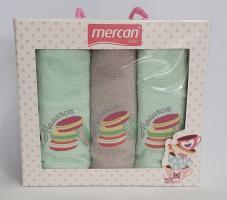 Набор махровых полотенец 3шт 01 Макаронс
