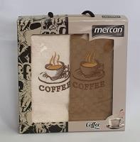 Набор вафельных полотенец 2шт 06 Кофе