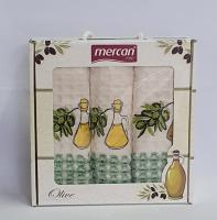 Набор вафельных полотенец 3шт 02 Oil