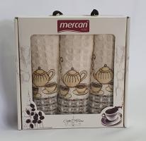 Набор вафельных полотенец 3шт 03 Cofee