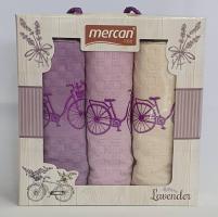 Набор вафельных полотенец 3шт 03 Велосипед