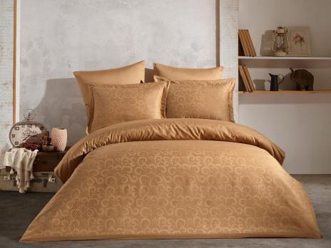 Постельное белье Saheser Jacquard Vip Satin 200X220 Honey Goldenrod