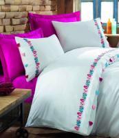 Постельное белье вышивка Dantela 200x220 Fusya