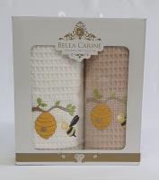 Набор вафельных полотенец 2шт Bella Carine Honey