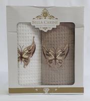 Набор вафельных полотенец 2шт Bella Carine Batterfly