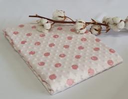 Плед детский с пупырышками в горошек розовый