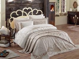 Набор покрывало с постельным бельем Dantela Olivia Bej