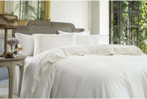 Постельное белье двуспальное евро Pepper Home Clara White-Gray 200x220