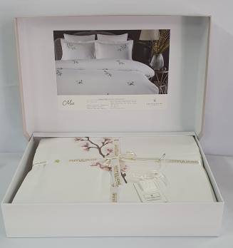 Постельное белье двуспальное евро Pepper Home Mia White-Pink 200x220