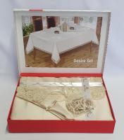Скатерть Set Maison Royale 160x220+8 psc Desire Cappucino