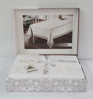 Скатерть Maison Royale 160x220 Mila White