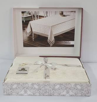 Скатерть Maison Royale 160x300 Mila Cappucino