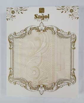 Скатерть Set Sagol тефлон 160x220+6 psc ovale Sgl-003 Cream