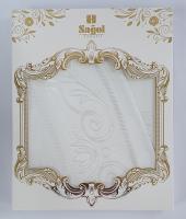 Скатерть Set Sagol тефлон 160x260+8 psc ovale Sgl-003 White