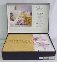 Набор покрывало с простыней+наволочки Pique Saheser Mona Yellow