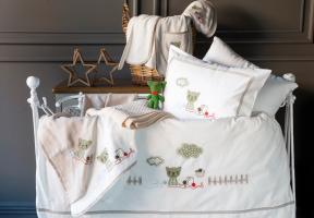 Детское постельное белье в кроватку набор Bob Pupilla Collection Ecru