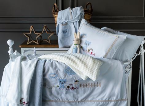 Детское постельное белье в кроватку набор Bob Pupilla Collection Mavi