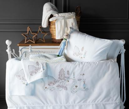 Детское постельное белье в кроватку набор Toffee Pupilla Collection Ecru