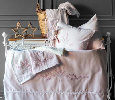 Детское постельное белье в кроватку набор Abby Pupilla Collection Pudra