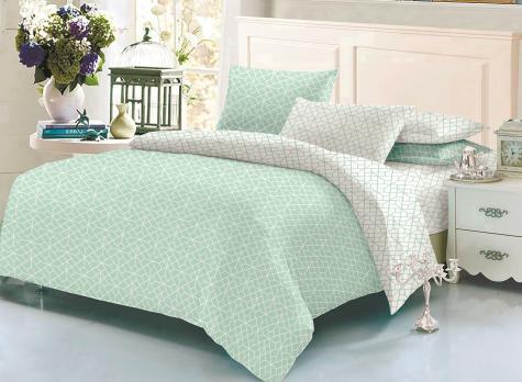 """Комплект постельного белья """"ТЕП"""" двухспальный 337 Homely Mint, 70x70"""