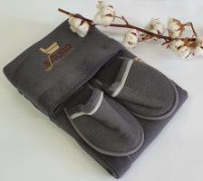 Набор для сауны мужской Maison D'or Dufour Серый (New Grey)