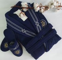 Халат мужской Maison D'or Elegance Marine Navi Lacivert S