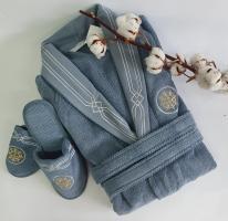 Халат мужской Maison D'or Elegance Marine Blue XL