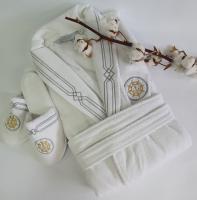 Халат мужской Maison D'or Elegance Marine White L