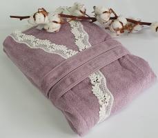 Халат женский Maison D'or Dina Longtemps Dark Lilac M