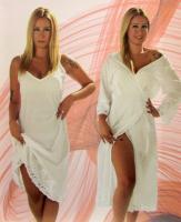 Халат женский с пеньюаром Maison D'or Aveedon Set Long White S