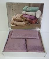 Набор полотенец Maison D'or 3 шт Exellence Murdum Фиолетовый